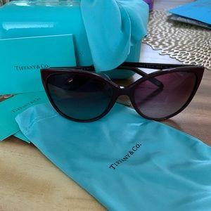 Tiffany & Co red Cateye Sunglasses